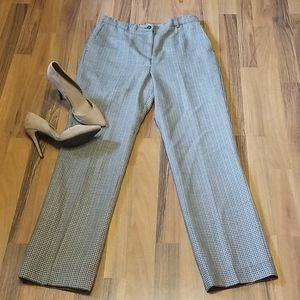 Pendleton Houndstooth Wool High Waisted Trousers